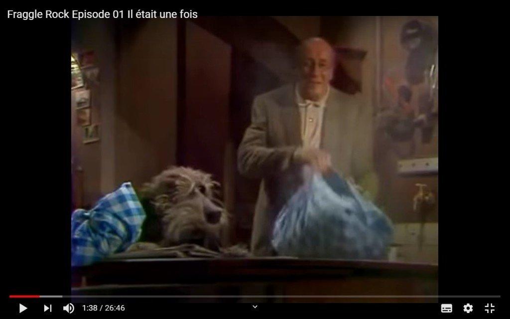 15 Michel Robin dans Fraggle Rock - épisode 1, Il était une fois, le 16 oct. 1983 - copie d'écran