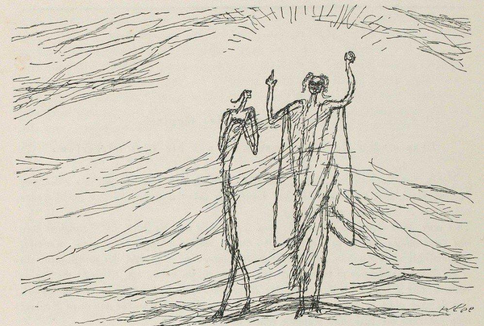 29 Paul Klee - illustration du chapitre XXX de Candide, ou l'Optimisme de Voltaire - 1920.png