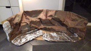 60 Crèche défraîchie - papier de roche et de nuit, papier d'aluminium ou rivière d'argent - photo perso - 2021