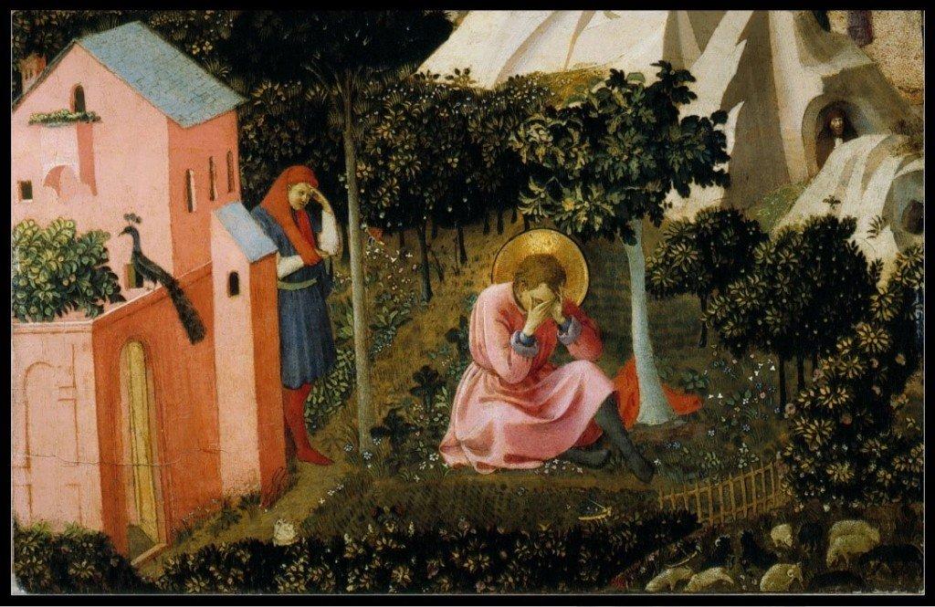 82 Fra Angelico - La Conversion de Saint Augustin - vers 1425-1430