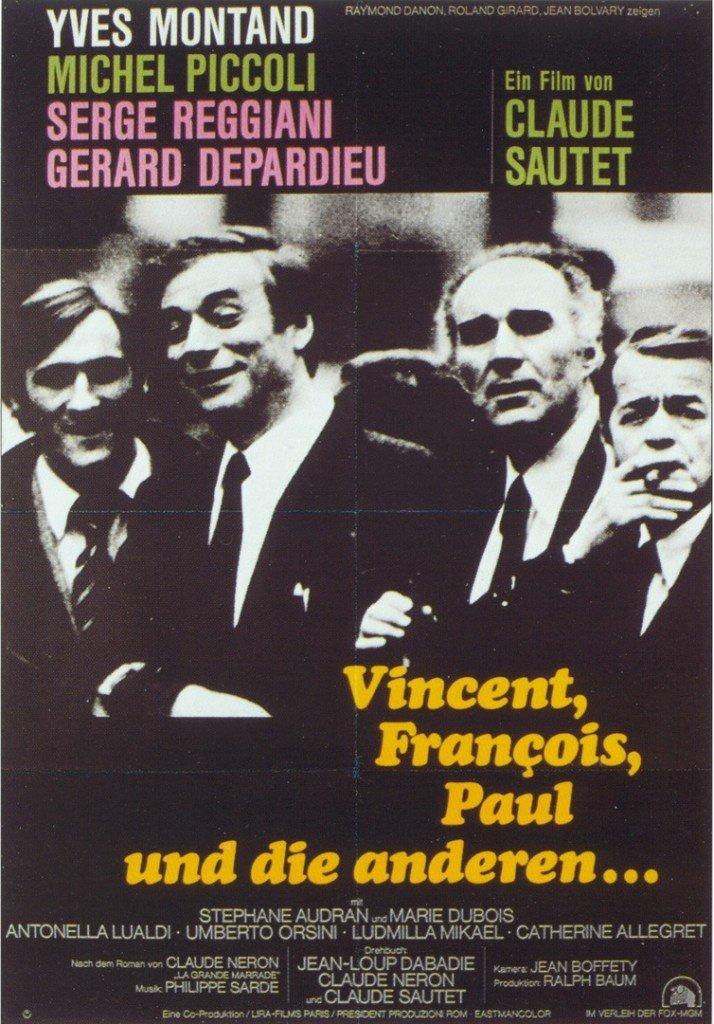 83 Claude Sautet - Vincent, François, Paul und die anderen... - 1974 - affiche allemandee Copyright Notice intact !