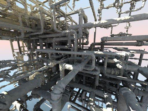 84 Structure de tuyauterie aléatoire - image récupérée sur la Toile - 2021