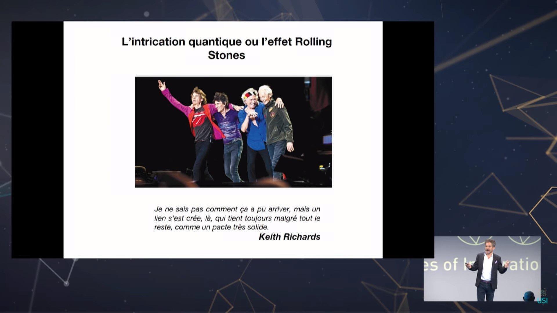 92 Étienne Klein à l'USI - De la physique quantique au Quantum Computing, copie d'écran – 12 juillet 2018