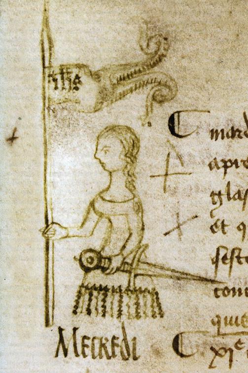 88 Clément Fauquemberge - esquisse du portrait de Jeanne d'Arc - 1429