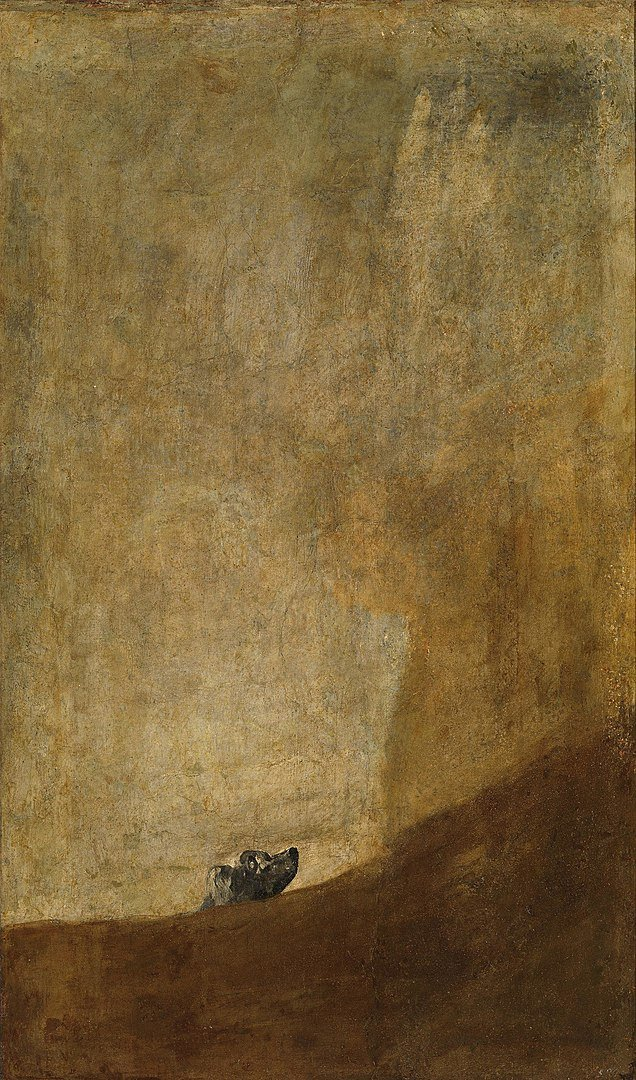 93 Francisco Goya - Le Chien - 1819-1823