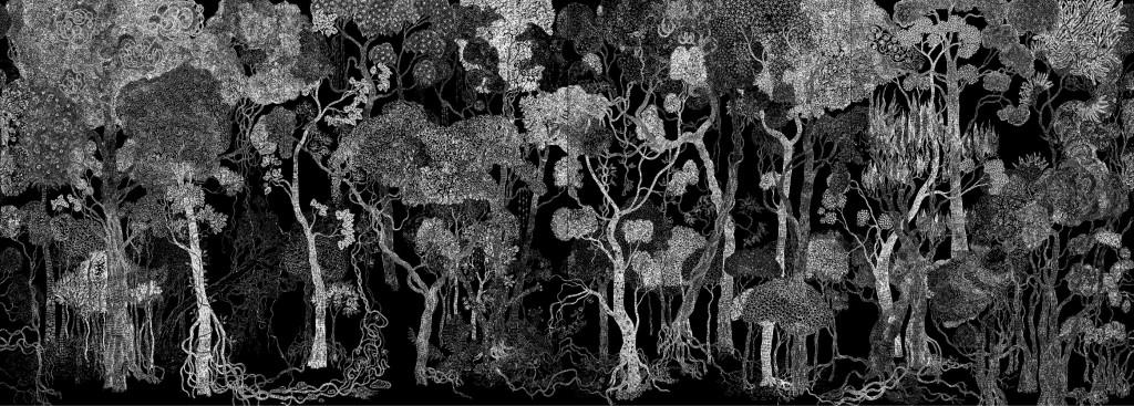 Les Petits Traits (Mathieu Schmitt et Belem Julien) - Forêt, éclairage nuit - 2014
