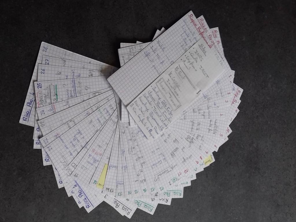 165 Fiches, notes de travail - photo perso - 2021