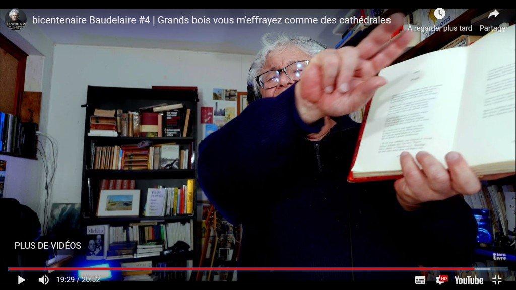 145 François Bon – Bicentenaire Baudelaire #4 (sur YouTube) – 16/03/2021 – copie d'écran