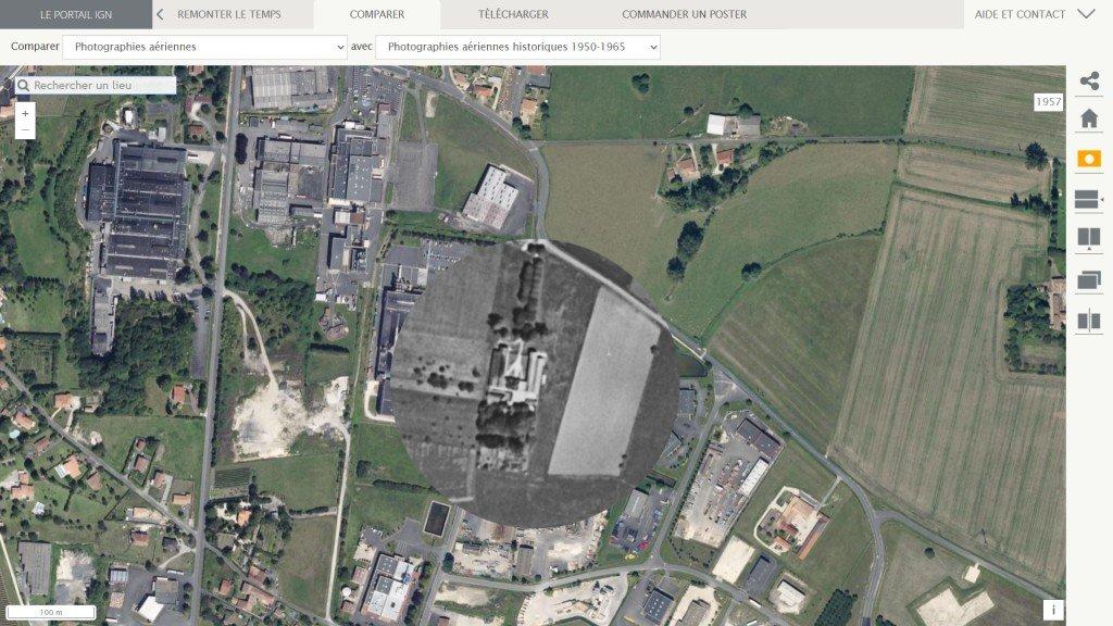 154 ZAC lieu-dit Plaisance - via le site Remonter le temps - copie d'écran - 2021
